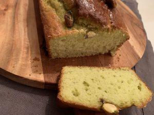 Avocado-pistache cake